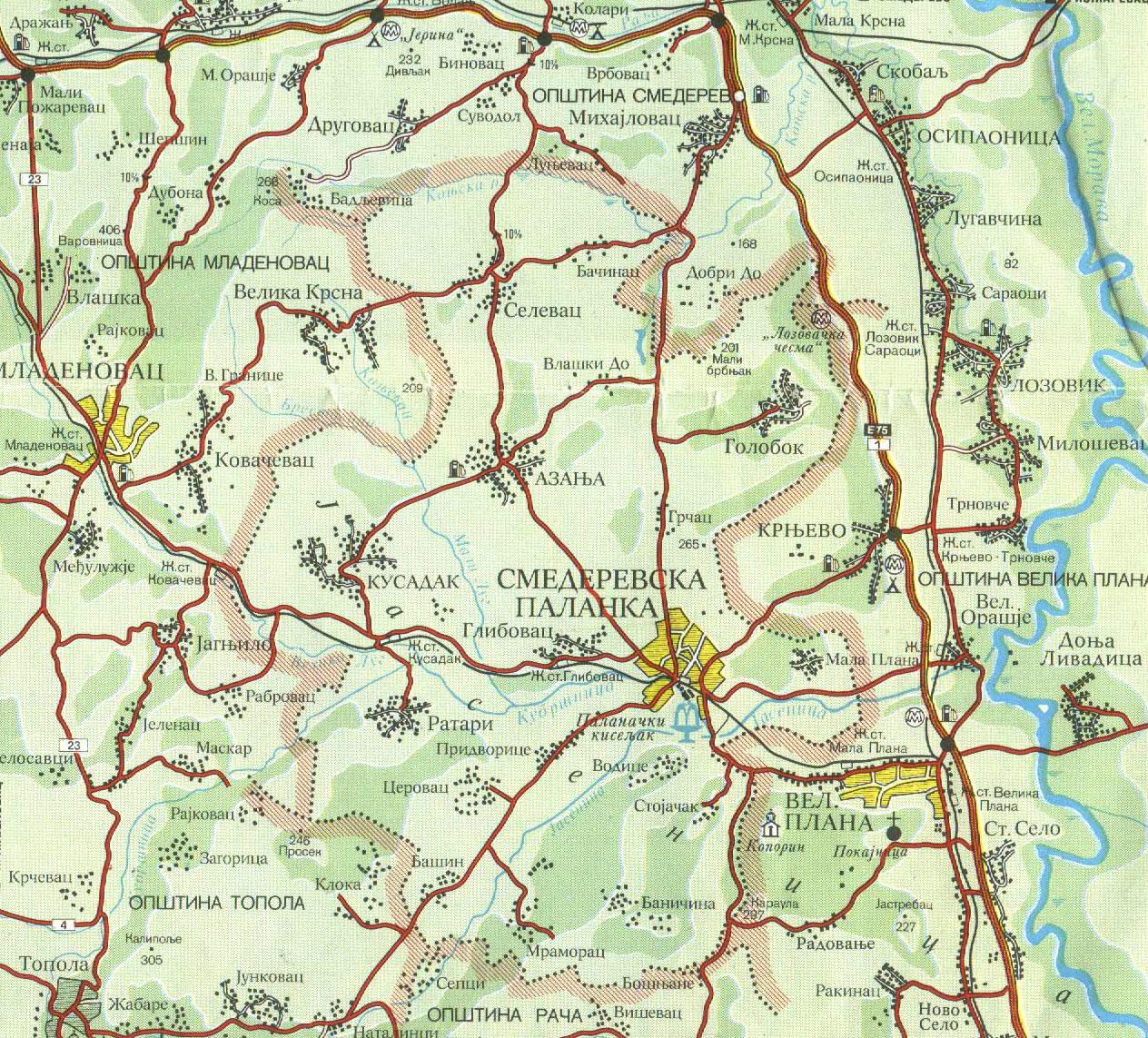 mapa srbije smederevska palanka Mapa | Banja Palanački Kiseljak mapa srbije smederevska palanka