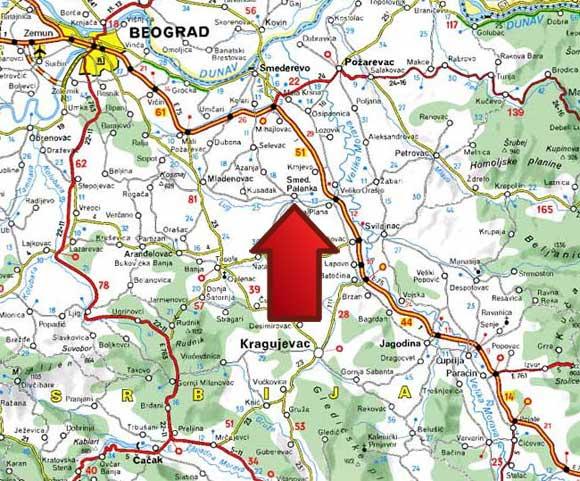 smederevska palanka mapa srbije Mapa | Banja Palanački Kiseljak smederevska palanka mapa srbije