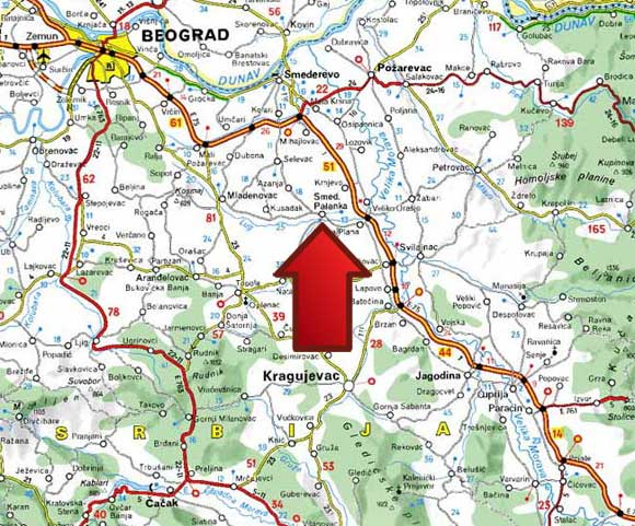 Mapa | Banja Palanački Kiseljak
